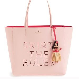 NWT Kate Spade Skirt the Rules Tote Pink Hula Purs
